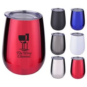 10 oz. Stainless Steel Wine Glass with Lid